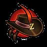 高級黑夜皮帽