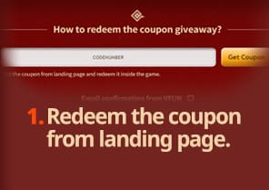 Redeem the coupon from landing page.