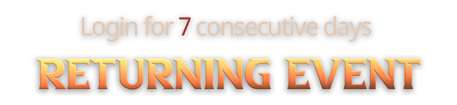 Login for 7 consecutive days -Returning Event-